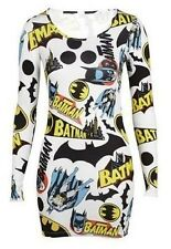 Ladies Batman Cream Comic Logo Mini Sexy Bodycon Dress Ladies Dress