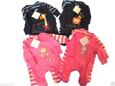 2 Pack Baby Sleepsuits / Babygrows Blue or Pink Size Newborn, 0-3 3-6 Months