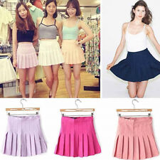 Hot Womens High Waist Pleated Slim Casual Thin Tennis Skirts Mini Dress Playful