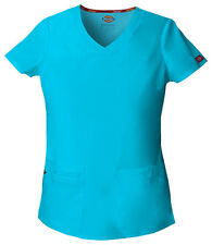 Turquoise Dickies EDS Signature V Neck Scrub Top 85906 TQWZ