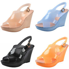 XP0002 Candy Fish head Wedges Waterproof high heel jelly shoes Women's sandals