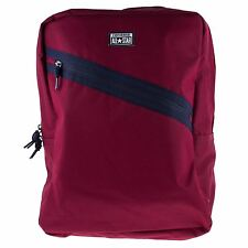 New Mens Converse Red Diagonal Zip Base Pack Polyester Bags Backpacks