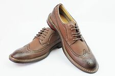 New Mens Dark Brown Ferro Aldo Shoes Brogue Original Perforation Details Lace Up