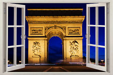 3D Paris Window View Removable Wall Decor Vinyl Decal Stickers Home Deco Art kid