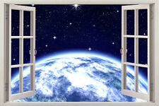 Space Earth window Wall Decal Sticker Removable Decor Art Vinyl Home Quote Room