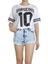 Chic Sporty 'Gorgeous 10' Jersey Football Uniform Crop Top - 2 Color Made in USA