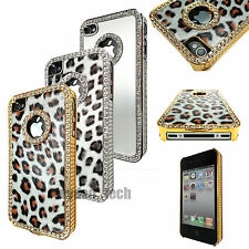 For Apple iPhone 4S 4 Luxury Bling Diamond Rhinestone Hard Case Snap On Cover