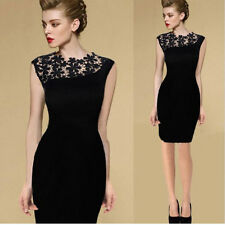 Women Ladies Sexy Lace Stretch Cocktail Evening Party Bodycon Pencil Dresses