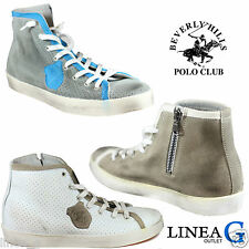 BEVERLY HILLS POLO CLUB leather sneakers alte in pelle vari colori P/Estate 2013