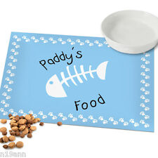 NEW PERSONALISED WITH PETS NAME CAT OR DOG PLACE MAT CHOOSE FROM 11 DESIGNS