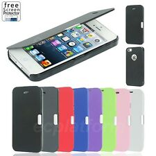 Magnetic Ultra Flip Slim Leather Case Cover for Apple iPhone 5 5s iPhone 4 4s
