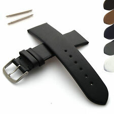 Genuine Leather Watch Strap/Band - With Buckle and Spring Bars - Mens and Womens
