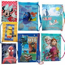 Disney & Kids TV Character School Swim PE Sports Bag Brand New Gift