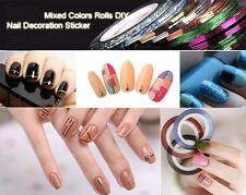 Mixed Nail Decal Rolls Striping Tape Line DIY Nail Art Tips Decoration Sticker