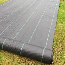 4.2m Wide 100gsm Yuzet lined Ground Cover Weed Control Fabric membrane mulch