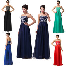 Store Promotion! Sexy Bridesmaid Bridal Cocktail Evening Prom Formal Long Dress
