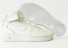 Scarpe Nike Air Force 1 Mid GS Bianche Alte Donna Junior Sneakers Nuovo