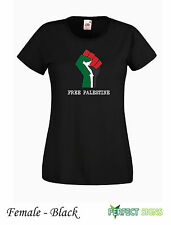 Free Palestine Free Gaza Starlite  Womens Female T-SHIRT all sizes Black