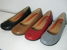 SALE Clarks Unstructured Un Rosily Leather Slip On Casual Pump Style Shoes