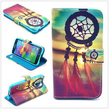 Dreamcatcher Flip Wallet Card Slot PU Leather Stand Case Cover For Smart Phones