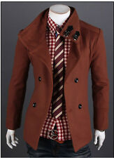 Retro Winter Men's Trench Coat Winter Long Jackets Double Breasted Overcoat
