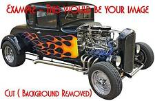 Giant CUSTOM Wall/Vehicle Sticker Decal of YOUR Vintage Hot Rod, Dragster
