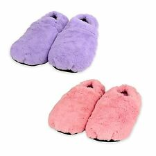 Zhu-Zhu Soft Plush Microwave Heated Slippers Wheat Bag Feet Warmers Microwavable