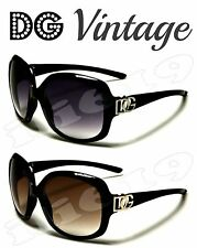 DG Designer VINTAGE Oversized UV SHADES Women Ladies Sunglasses CUTE Celebrity