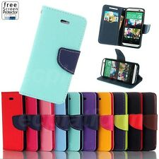 Flip Stand Magnetic Wallet Card Slot Leather Cover Case Pouch for HTC One M8 M7