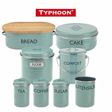 Typhoon Vintage Kitchen Summer Blue Range, Storage, Compost, Cake, Utensils