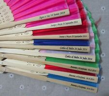 Hand Fans with Engraving or Text Print  for Wedding Favour Personalised Gift