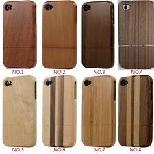 New For Apple IPhone 4 4S 5 G 5S Genuine Real Wood Bamboo Hard Back Case Cover