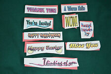 NEW Scrapbooking Unmounted Rubber Stamps ( in different words and phrases)