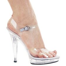 Sexy High Heel Sandal Pumps Clear Glass Slipper Shoes Adult Women