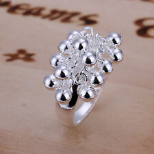 Wholesale Price 925Sterling Silver Many Grape Bead Ring Size 8 (or 6 7 9 ) R016