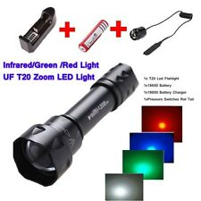 T20 3 Mode with Memory Infrared/Red/Green/White Oslon Osram Torch flashlight