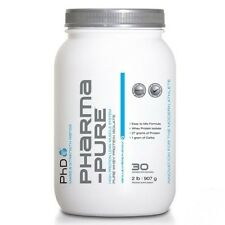 PHD PHARMA PURE 2LBS 900G WHEY PROTEIN ISOLATE WPI LOW CARB NO SUGAR! ADDED