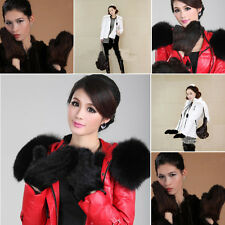 New Hot Sell Real Knitted Mink Fur 2 Color Winter Mittens Gloves Hand Warmer
