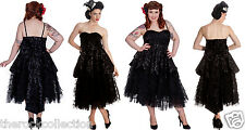 Hell Bunny Lavintage Dress Steampunk Gothic Wedding Dress Style XS - 4XL