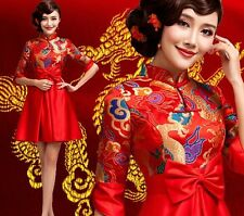 Short Red Chinese's Cheongsam Formal Evening Prom Party Dress Ball Gown Gift 184
