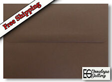 Rich Dark Chocolate Brown Envelopes A2 A6 A7 for Cards Invitations Announcements