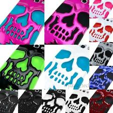 Hybrid Skull Case Hard Shockproof Skeleton Spooky Cover For Apple Samsung LG