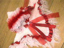 DREAM GIRLS ROMANY RED SPOT CHRISTMAS FRILLY HOODED CAPE ALL SIZES AVAILABLE