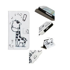 Giraffe Pattern Leather Wallet Flip Stand Case Cover For Vareity Mobile Phones