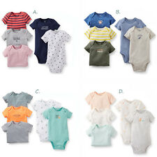 Carters Newborn 3 6 9 12 18 24 Months 5 pack Bodysuit Set Baby Boy Clothes NWT