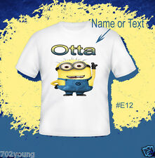 Custom Personalized T-shirts with Photo Name Logo Text Minions