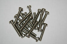 25 PIECES  M1.6-0.35 X 3MM THRU 16MM  STAINLESS  STEEL CHEESE HEAD SLOTTED M/S