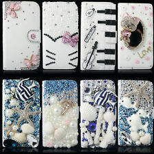 3D New White Bling Flip Wallet Leather Case Cover For Samsung Galaxy S3 i9300