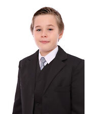 Boys Formal Suit Black or Grey Prom Cruise Wedding Christening Funeral 1-15 Yrs