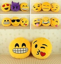 New Soft Emoji Smiley Emoticon Yellow Round Cushion Pillow Stuffed Plush Toy Dol